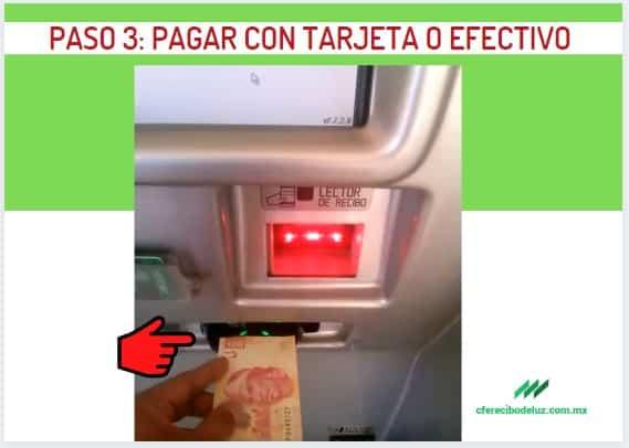 pagar con tarjeta o efectivo